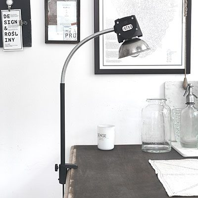 Lampa Industrialna Biurkowa Warehouse Loft Black 698 Lampy Loft